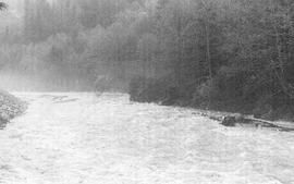 The Stawamus River during flood, 1981