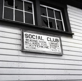 Sign for social club