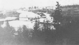 Aerial photo of Squamish 1927