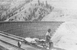 Trestle bridge north of Lillooet
