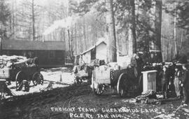 Freight teams at PGE's Cheakamus camp
