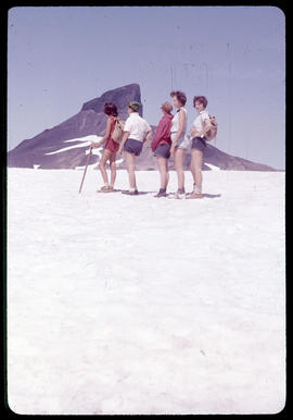 Young people on glacier