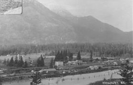 Aerial view of Squamish around 1913