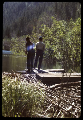 Fishing at dam (Scouts)