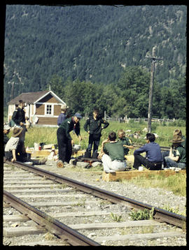 Waiting for train (Scouts)