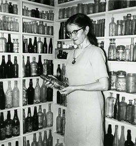 Woman with bottles