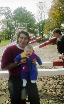 Man and baby at playground