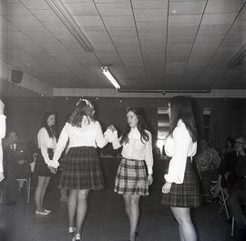 Young women dancing