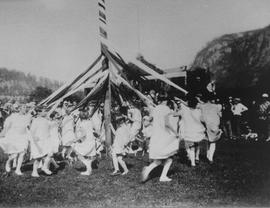 Maypole Dance at May Day Celebration