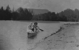 Canoeing in Judd Slough, 1919