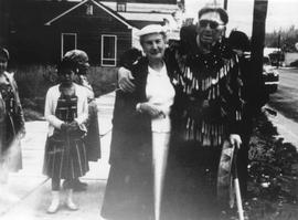 Mrs Allan Barbour with Chief August Jack