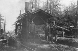 Steam donkey at Yapp's Logging Camp