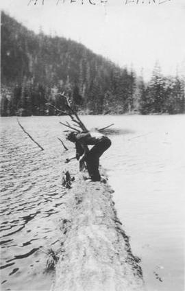 Carl Johnson at Alice Lake, 1935