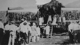 May Day 1928 float on PGE tracks