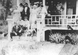 Crowd at Mrs Allen Rae's Boarding House