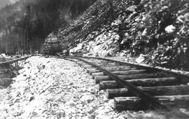 Building railway through Cheakamus canyon