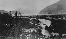 Aerial view of Squamish