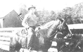 Harold Thorne on horseback