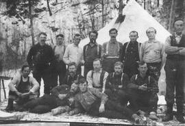 Men at unidentified camp