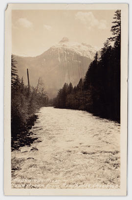 Cheakamus River Downstream from Roadhouse, Chee-kye, B.C. [Front]