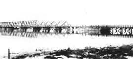 Railroad bridge where the FMC mudflats are