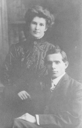 Mr and Mrs J. Edwards - Christmas 1909