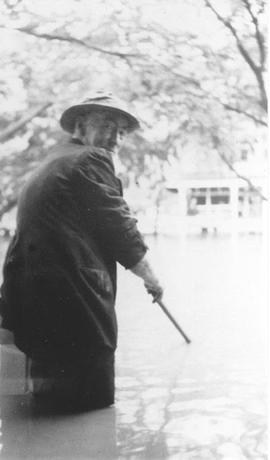 Edward Brennan during the 1940 flood