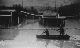 Canoeists on corner of Victoria and Cleveland Avenue