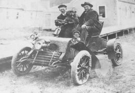 Allan Barbour and Bill Wallace in one of the first cars in Squamish