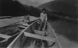 Ronald Billy in canoe