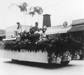 Parade float in 1950's