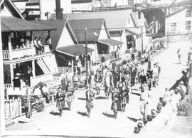Vancouver Ladies Pipe Band in Labour Day Parade, 1953