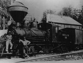 First locomotive to come up Howe Sound to Norton & McKinnon logging operation