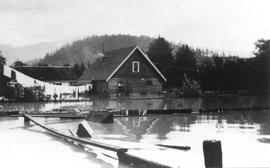 Downtown Squamish, 1940 flood