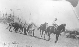 George Munro with horse pack train