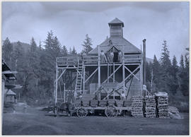 Hop drying kiln at Squamish Valley Hop Company farm